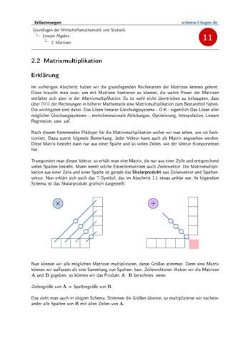 Lineare Algebra Erläuterungen